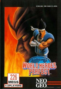 Capa de World Heroes Perfect